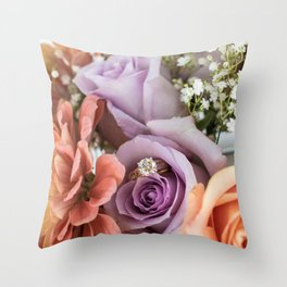 Rings of Beauty Throw Pillow