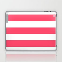Infra red - solid color - white stripes pattern Laptop & iPad Skin
