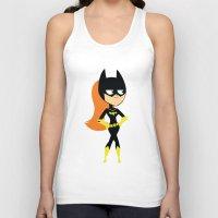 batgirl Tank Tops featuring Batgirl by Adrian Mentus