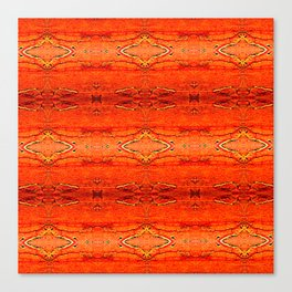 Orange Aztec Pattern 2 | Corbin Henry Canvas Print