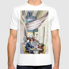 Café Mens Fitted Tee MEDIUM White