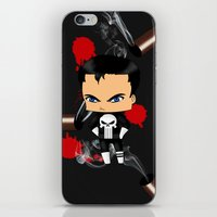 punisher iPhone & iPod Skins featuring Chibi Punisher by artwaste