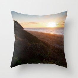 Table Bluff Sunset Throw Pillow