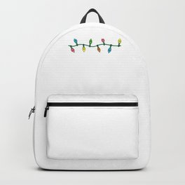 Merry And Bright Merry Christmas Lights Gift Backpack