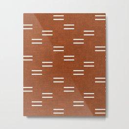 double dash - burnt orange Metal Print