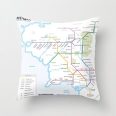 Middle Earth Transit Map Throw Pillow