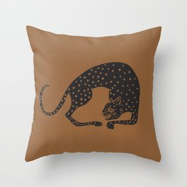 Blockprint Cheetah Throw Pillow