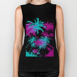 California Palm Trees at Night  Biker Tank