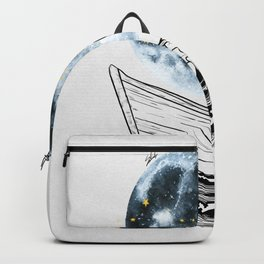 Night above the moon. Backpack