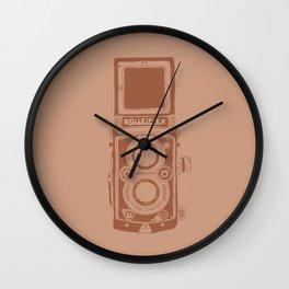Vintage Rolleiflex Camera Illustration Wall Clock