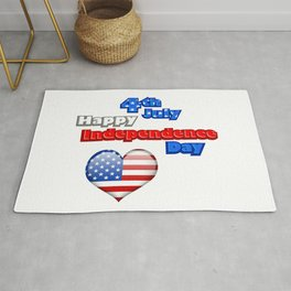 4th of July Independence Day USA Rug