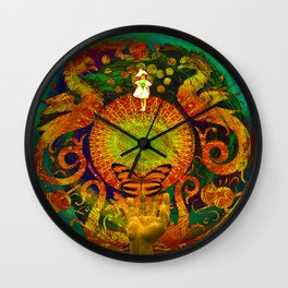 off THe GriD Wall Clock