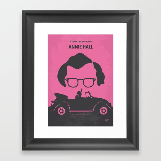No147 My Annie Hall minimal movie poster Framed Art Print