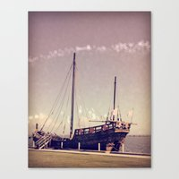 pirate ship Canvas Prints featuring Pirate Ship by Apples and Spindles