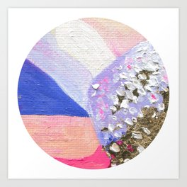 Abstraction World #1. Round version 2 Art Print