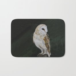 Jazz The Barn Owl by Teresa Thompson Bath Mat