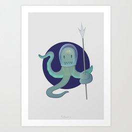 Lil Alien - Squiddy  Art Print