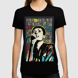 Ian Curtis Pop Art Quote / Joy Division T-shirt