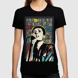 Ian Curtis Pop Art Quote / Joy Division T-shirt