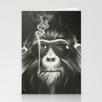 wall clock Stationery Cards featuring Smoke 'Em If You Got 'Em by Dr. Lukas Brezak