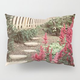 Tall Red Flowers & Path Pillow Sham