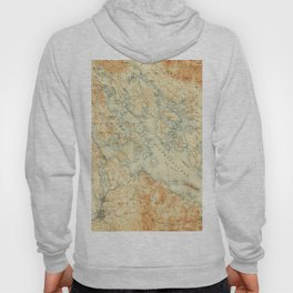 Vintage Map of Lake Winnipesaukee (1907) Hoody