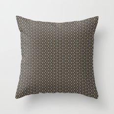 Brown Gold Elegant Pattern Throw Pillow