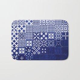 tile blue background Bath Mat