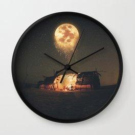 Melting Moon Wall Clock