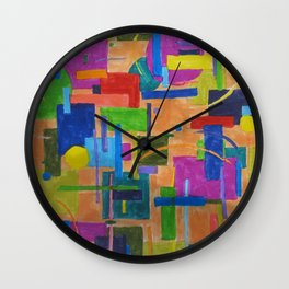 RainbowDoodles Wall Clock
