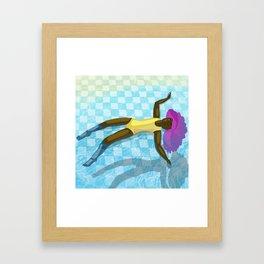 Pooltime Floating Framed Art Print