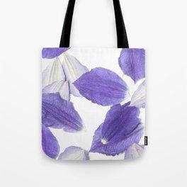 Beautiful Falling Purple Clematis Petals Tote Bag