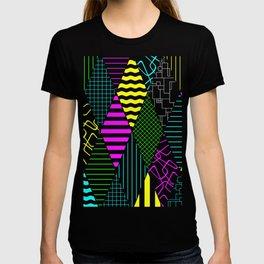 Bright Multi Patterned Diamond Collage T-shirt