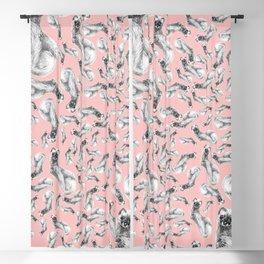 Siberian Weasel Kolinsky Blackout Curtain