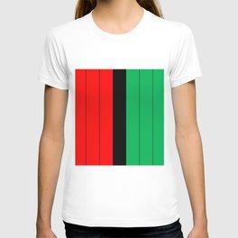 Kwanzaa Red Black Green Stripes T-shirt