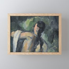 Women Bathing Framed Mini Art Print