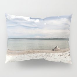 Dream beach Sea Ocean Summer Maritime Navy clouds Pillow Sham