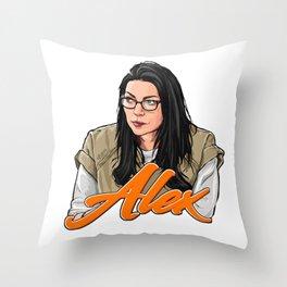 Alex Vause, I heart you. Throw Pillow