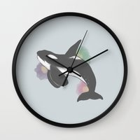 orca Wall Clocks featuring Orca by Belly
