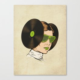 Princess L. was a DJ Canvas Print