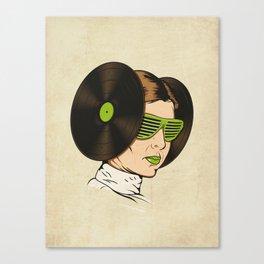 Princess L. was a DJ Canvas Print