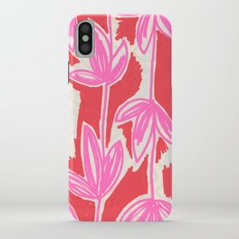 Red and Pink Sketchbook Botanical iPhone Case