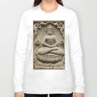 buddha Long Sleeve T-shirts featuring Buddha by Falko Follert Art-FF77