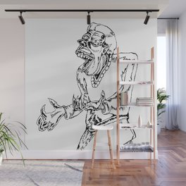 Werewolf Transformation in Ink Wall Mural