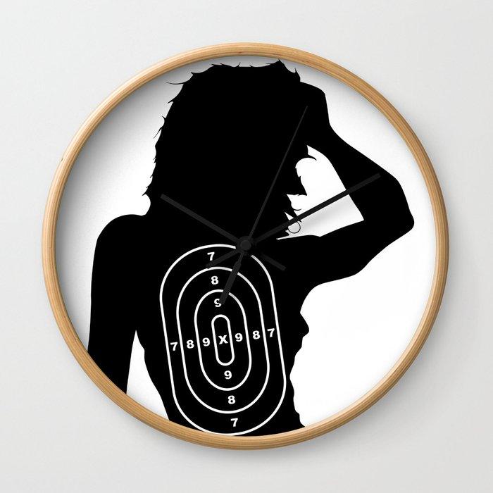 Female Human Shape Target Wall Clock