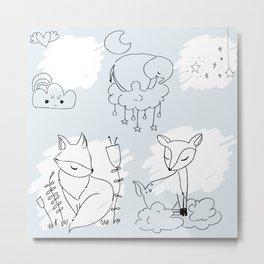 cute sky Metal Print