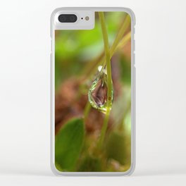 Water droplet abstract Clear iPhone Case