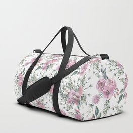 Roses Orchids and Wild Flowers Duffle Bag