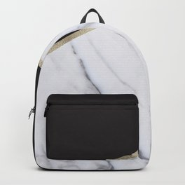 Gilded ebony and soft white marble Backpack