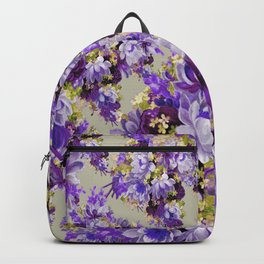 Purple And Gold Floral Backpack